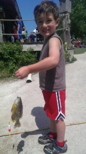 Max Bauer with Sunfish