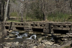 The CCC built this low-water bridge across Rock Creek in the late 30s. Boyle Park, Pulaski County, Little Rock, Arkansas