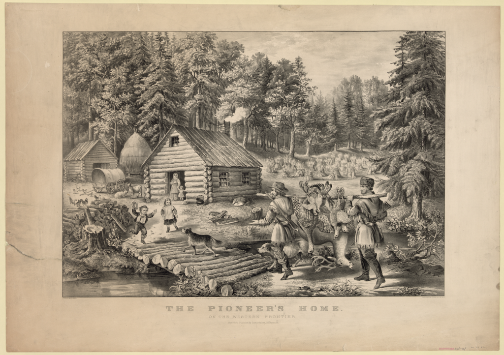 Home on the Western Frontier by Currier & Ives, 1867